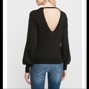 NWT Express Small Open Back Pitch Black Sweater